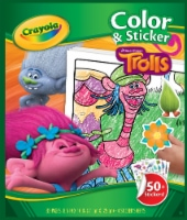 Crayola DreamWorks Trolls Color and Sticker Book - 32 Pages