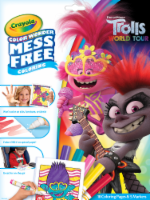 Crayola Color Wonder Trolls World Tour Mess Free Coloring Pages & Markers