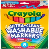 Crayola - Washable Marker Set - 8-Color Broad Set - Bright - 1