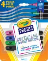 Crayola Project Metallic Outline Markers - 4 pk