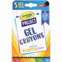 Crayola CYO52-9509 Project Gel Crayon, Assorted Color - Pack of 5