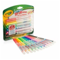 Washable Dry Erase Markers, Fine Line, 12 Count - 1