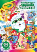 Crayola Time Off with Santa Sticker Sheet
