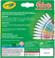 Crayola Fine Line Fabric Markers - 10 Count