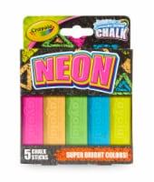 Crayola Special FX Neon Sidewalk Chalk-5/Pkg - 1