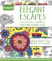 Crayola Elegant Escapes Adult Coloring Book