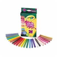 Crayola Color Sticks Non-Toxic Woodless Pentagon Colored Pencil Set, Assorted Color, Set Of 2