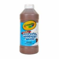 Washable Paint, Brown, 16 oz. - 1