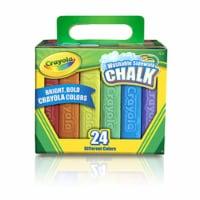 Washable Sidewalk Chalk, 24 Colors - 1