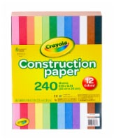 Crayola Construction Paper - 240 Pack - 9 x 12 in