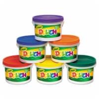 Crayola Llc Formerly Binney & Smith Bin570016 Crayola Dough Set Of 6 Tubs Red Orange Green Ye