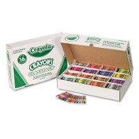Crayola Classpack Regular Crayons, 16 Colors, 800/Bx 528016 - 1