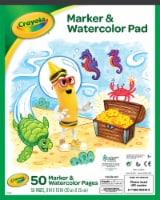 Crayola Marker & Watercolor Pad - 8 x 10 in