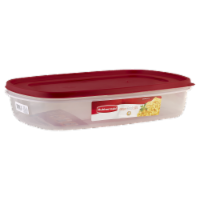Rubbermaid Easy-Find Lids Food Storage Container - Red/Clear