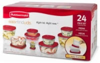 Rubbermaid Easy Find Lids Food Storage Set - Red/Clear