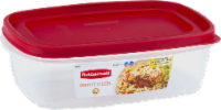 Rubbermaid Easy Find Lids Rectangle Food Storage Container - Clear/Red - 8.5 c