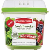 Rubbermaid Fresh Works Produce Saver Container - Green/Clear