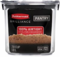 Rubbermaid Brilliance Pantry Organization Brown Sugar Container - Clear - 7.8 c