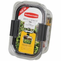Rubbermaid Brilliance Salad Container Kit - Clear