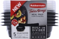 Rubbermaid Food Storage Containers - 5 Pack - Black