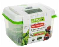 Rubbermaid Fresh Works Produce Saver Food Storage Container - Green