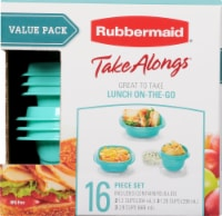 Rubbermaid TakeAlongs Food Containers & Lids - Aqua/Clear