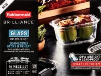 Rubbermaid Brilliance Glass Storage Container Set - 10 pc