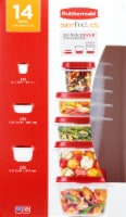 Rubbermaid Easy Find Lids Set - Clear/Red