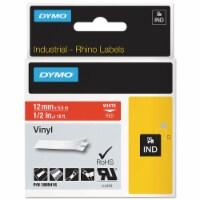 "Dymo Label Tape Cartridge,Vinyl,18 ft.L,1/2""W HAWA 1805416"