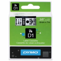 DYMO Tape,Cartridge,3/8,Bk/Clr 40910