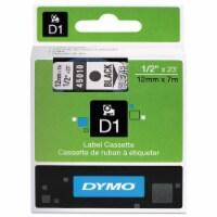 DYMO Tape,Cartridge,1/2,Bk/Clr 45010