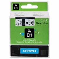 """DYMO D1 Standard Labels 1"""" Black on White"""