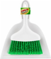 Libman® Whisk Broom and Dust Pan - White/Green