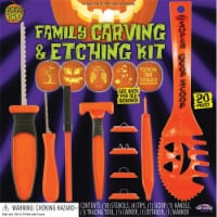 Fun World® Pumpkin Pro™ Family Carving & Etching Kit - Orange/Black