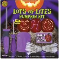Fun World Lots of Lites Pumpkin Carving Kit - Purple/White