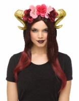 Fun World Horn Flower Headpiece - Gold / Red