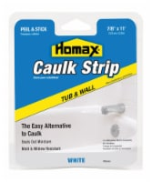Homax  White  Silicone  Caulk Strips  7/8 in. x 11 ft. - Case Of: 1; - Count of: 1