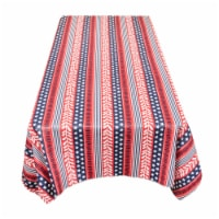 Carnation Home Fashions DFLN-90-AM 52 x 70 in. Americana Vinyl Flannel Backed Tablecloth in R - 1