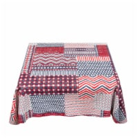 Carnation Home Fashions DFLN-52-PP 60 in. Americana Round Vinyl Flannel Backed Tablecloth in - 1