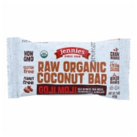 Jennie's Organic Goji Moji Raw Coconut Bar - Case of 12 - 1.5 oz.