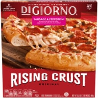 DIGIORNO Sausage & Pepperoni Frozen Pizza on a Rising Crust