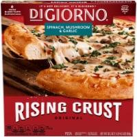 DIGIORNO Spinach Mushroom & Garlic Frozen Pizza on a Rising Crust