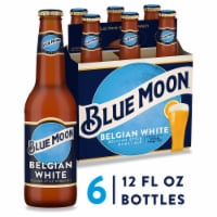 Blue Moon Belgian White Belgian Style Wheat Ale Beer 6 Bottles