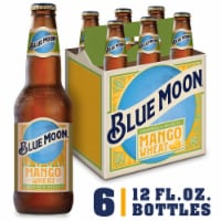 Blue Moon Mango Wheat Ale Beer 6 Bottles