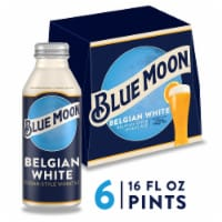 Blue Moon Belgian White Belgian Style Wheat Ale Beer 6 Cans