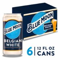 Blue Moon Belgian White Belgian-Style Wheat Ale - 6 cans / 12 fl oz