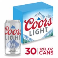Coors Light American Light Lager Beer - 30 cans / 12 fl oz