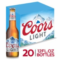 Coors Light American Light Lager Beer 20 Count