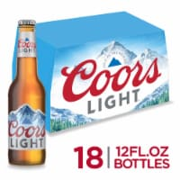 Coors Light American Light Lager Beer 18 Count