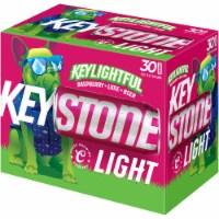 Keystone Light Keylightful Raspberry Lime Beer 30 Cans